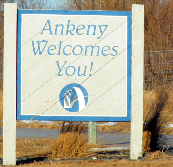 Welcome to Ankeny sign