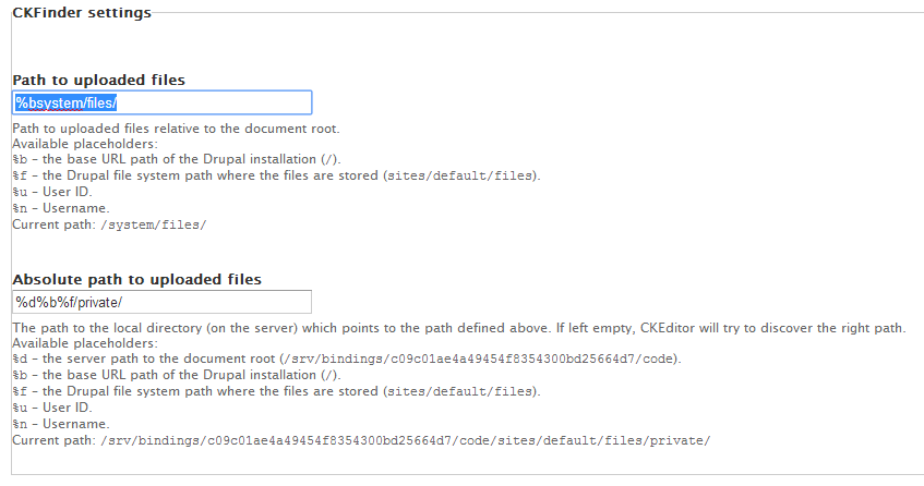 Insert private files with CKFinder in Drupal | Covenant Design